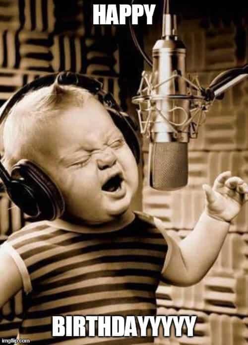 child singing birthday meme