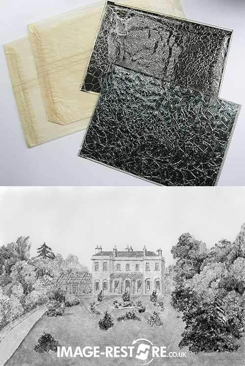 Wrinkled negatives restored