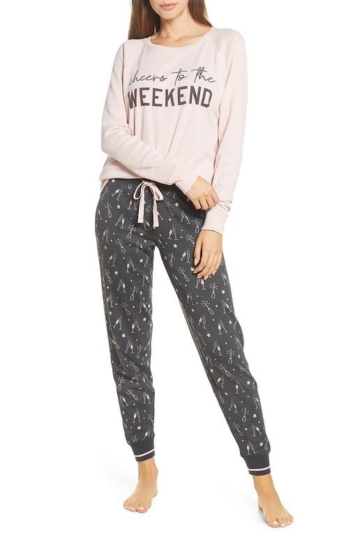 PJ Salvage Stripe Thermal Pajamas