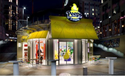 The peeps store is a great staycation treat in national harbo