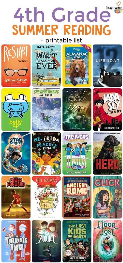 4th grade summer book list