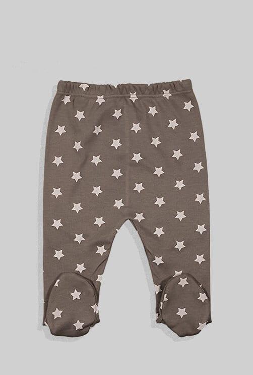 שני סטים בגדי גוף ורגליות פלנל - משולשים וכוכבים - אפור וסגול (0 -2.5 שנים)
