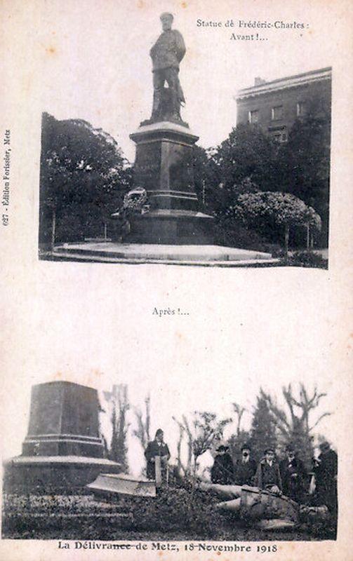 Denkmäler stürzen - Das Ende des 1. Weltkrieges in Metz; Elsass-Lothringen
