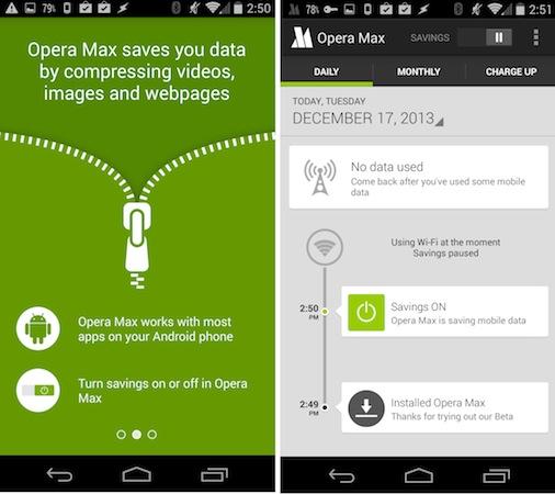 Met Opera Max regel je het dataverbruik van apps op je smartphone. Hierdoor kun je fors besparen op je bundel.