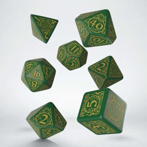 Pathfinder Polydice Dice Set Jade Regent