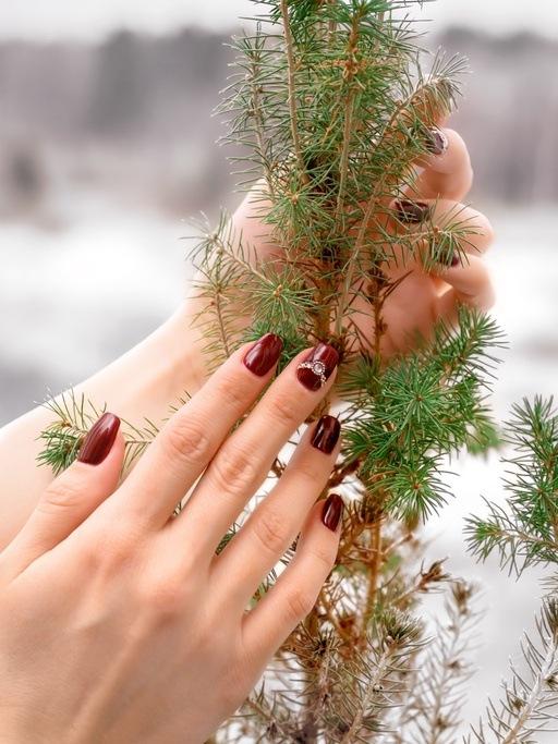 Unas navidenas elegantes de un solo color