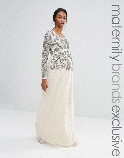 vestidos-de-fiesta-premama-para-embarazadas-asos-largo-estampado-floral