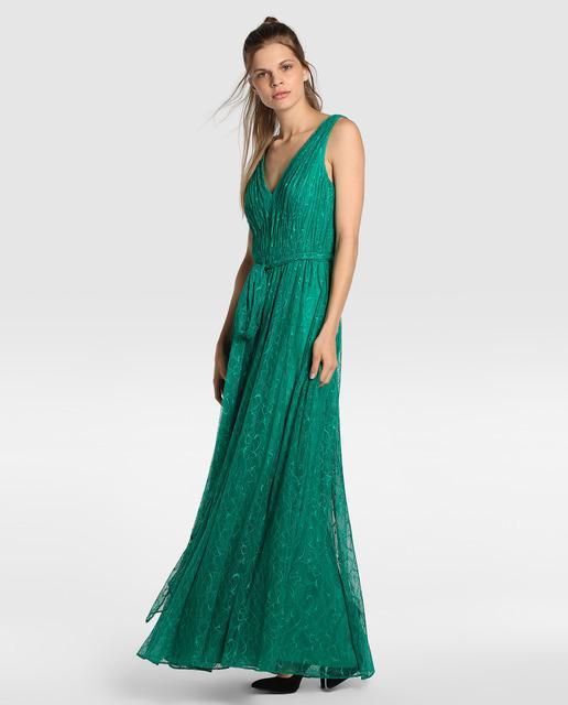 vestidos-verdes-largo-encaje-el-corte-ingles