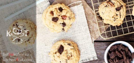 Соленое овсяное печенье с темным шоколадом