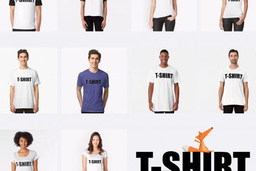 The T-SHIRT all models @ TipsyRedFox.com