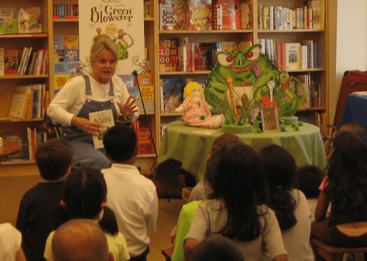 Ruth Ann and the Green Blowster book signing