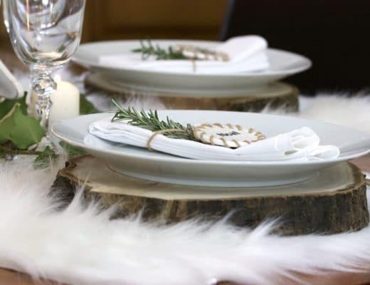 Table de Noël scandinave