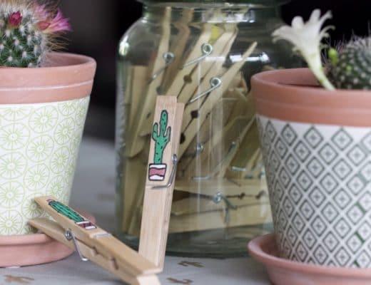 Personnaliser des pinces en bois