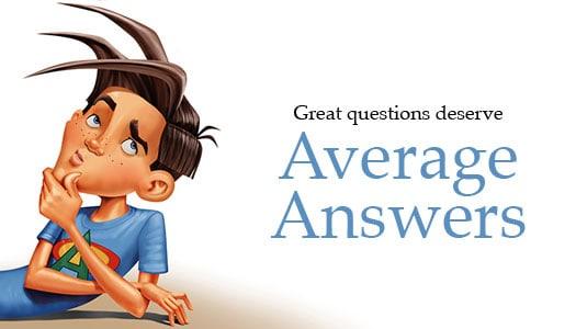 Average Boy Answers