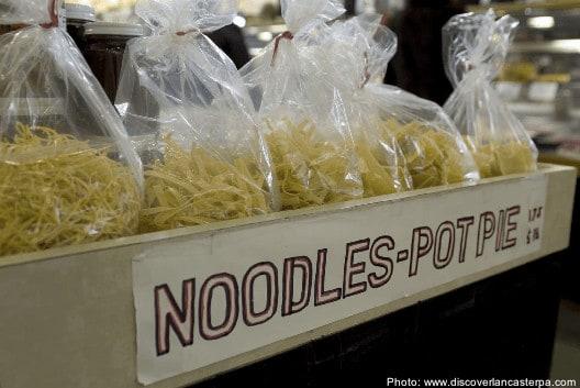 Amish egg noodles at the Lancaster market