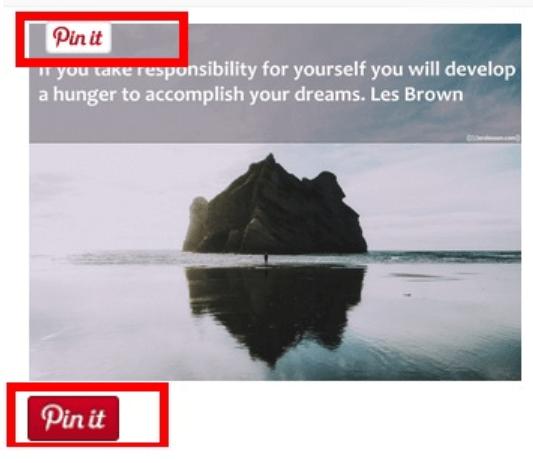 pin it button Pinterest Traffic