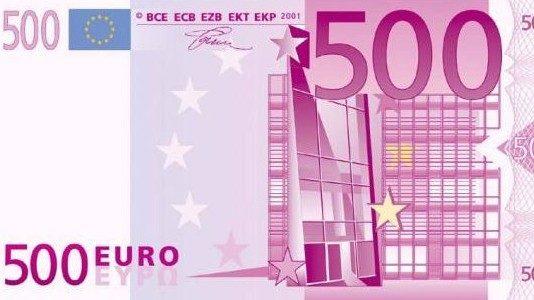 500 euro, le banconote spariranno definitivamente dal 2018
