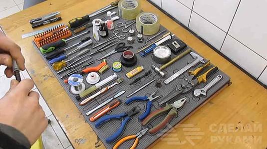 Система хранения ручного инструмента в домашней мастерской - Техника