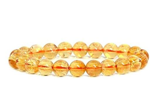 Bracelet Chakra Inspiré Doré Et Jaune Avec Des Éléments Ovales
