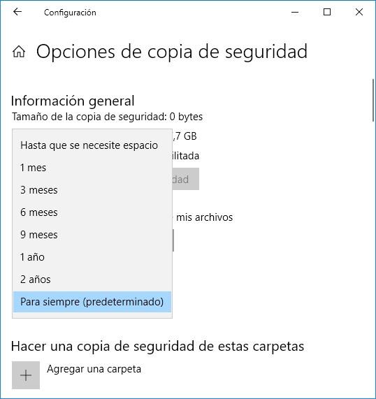 Cómo hacer una copia de seguridad incremental en Windows 10