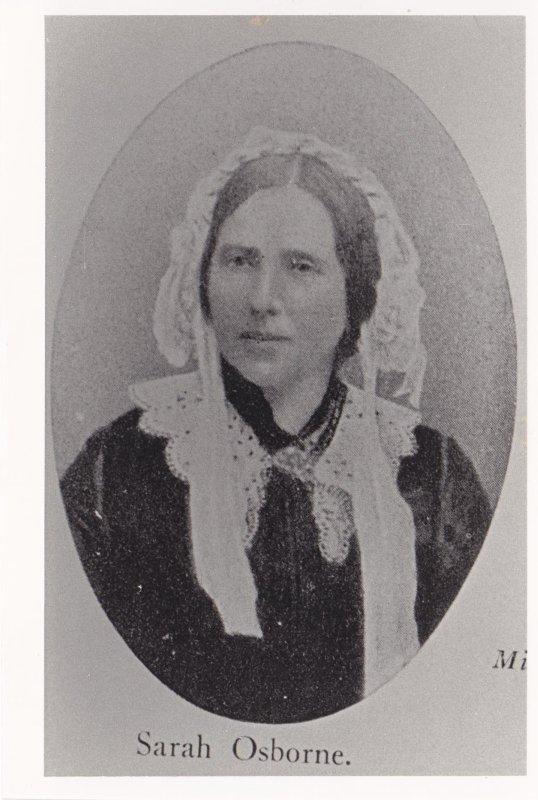 Sarah Osborne accusée lors du procès des sorcières de Salem
