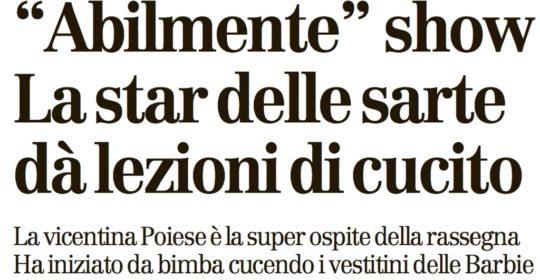 intervista giornale di vicenza 28022016 - Sara Poiese