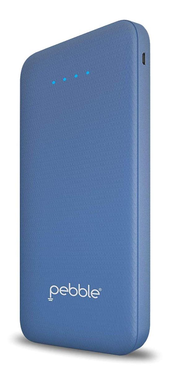 Pebble Volt 10,000 mAh high-Speed Power Bank Blue