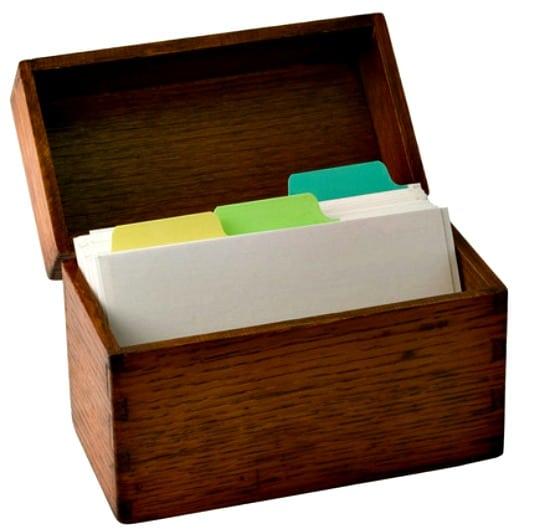 How to Make a Weekly Menu Plan - Wood recipe box