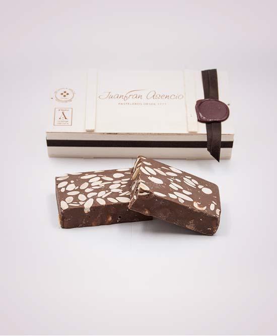 Turrón chocolate con almendras Gourmet 300