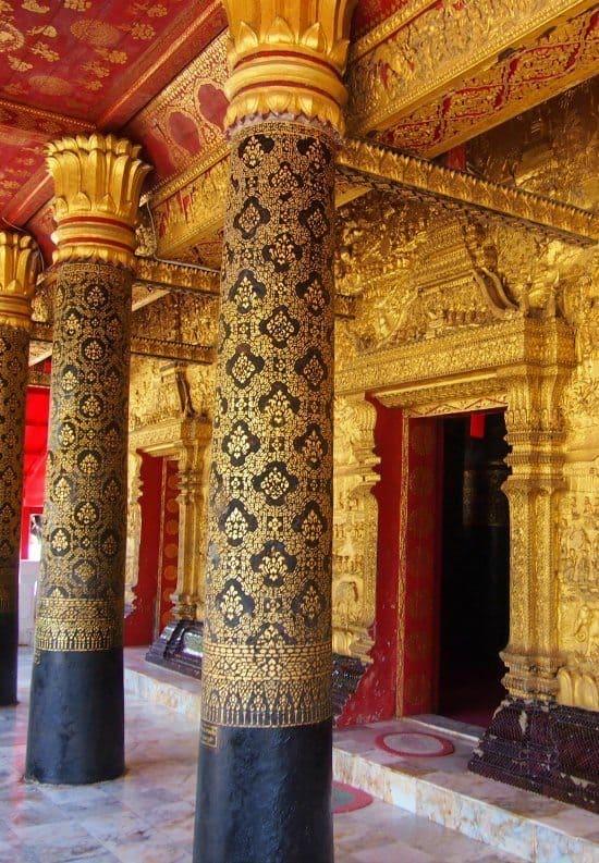 Travel Laos. Luang Prabang New Monastery, Wat Mai.
