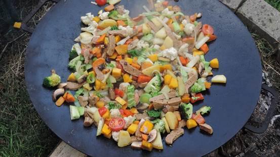 Seitan con verduras salteadas