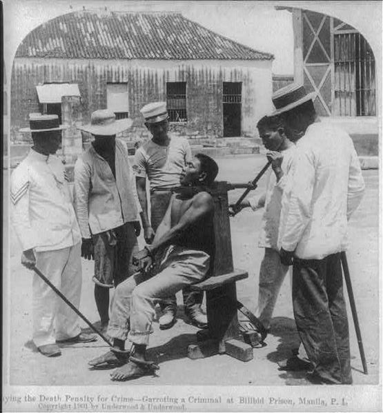 garrote ejecucion filipinas 1901