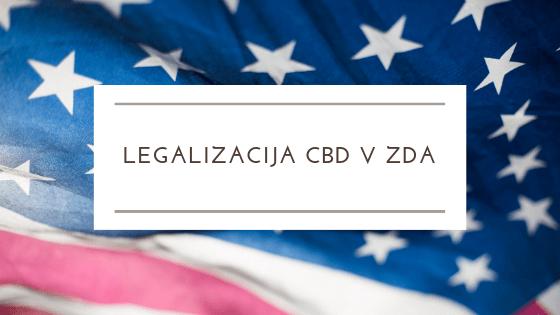 , ZDA bodo legalizirale CBD