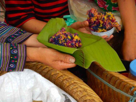Cucina vietnamita: riso al mercato di Bac Ha