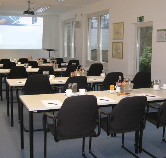 Seminarraum des Hubertushofs in der Innenansicht