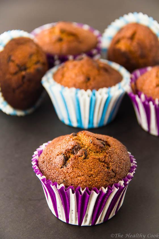 Vegan-Banana-Chocolate-Muffins – Υγιεινά-Μάφινς-Μπανάνας-Σοκολάτα
