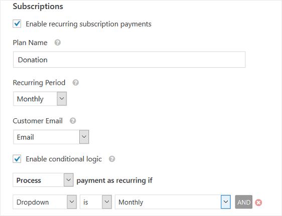 WPForms e Stripe: abilitare pagamenti ricorrenti