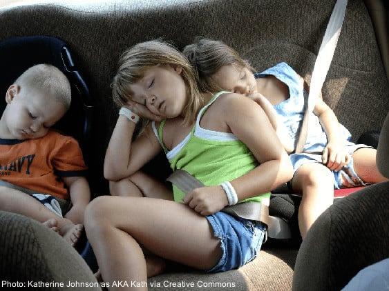 Sleep is a good way to keep car sickness at bay