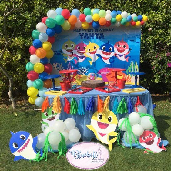 Baby Shark Party Dessert Table - Baby Shark Party Ideas