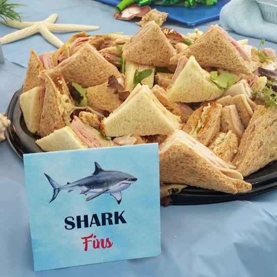 Shark Fins - Sandwiches - Baby Shark Party Ideas