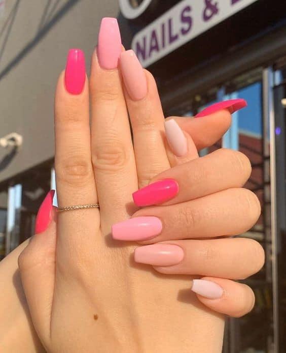 Pink Summer Pastel Nails