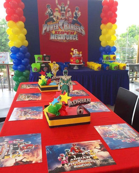 Power Rangers Birthday Decorations | Power Rangers Party Ideas