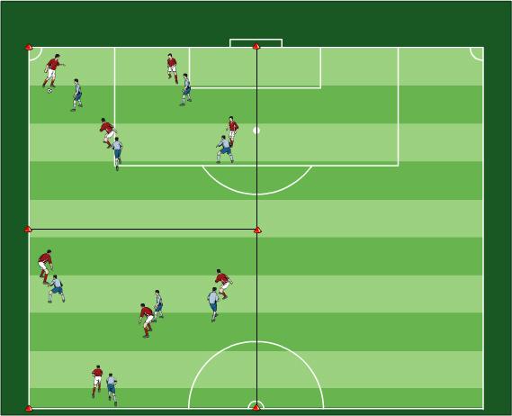 Ausdauer Fussballübungen für dein Fußballtraining - Elf Spielformen für Training der Grundlagenausdauer - Paket 08 - 3