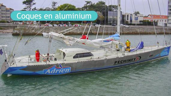 Coque aluminium pour voilier de voyage