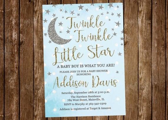 Twinkle Twinkle Little Star Baby Shower Ideas For Boys