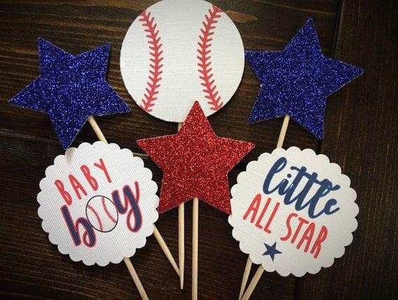 Baseball Little Slugger Baby Shower Theme For Boys