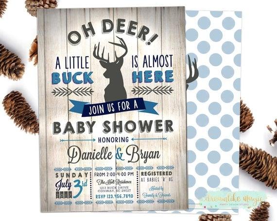 Oh Deer Little Buck Baby Shower Theme For Boys