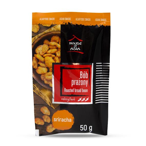 Snacki bób prażony sriracha 50 g house of asia