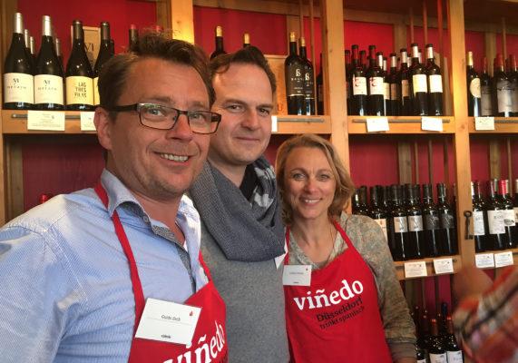Guido, Galo, Gudrun auf unserer Weinprobe