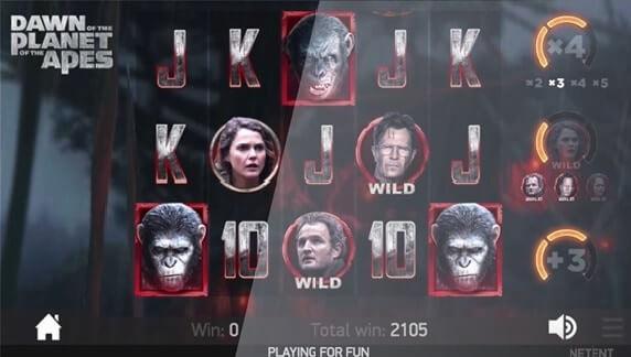 Planet of the Apes' free spins-funktion er et bonusspil i NetEnts nye spilleautomat